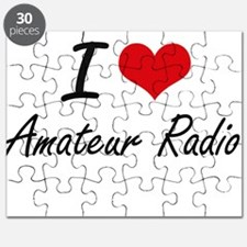 I Love Amateur Radio artistic Design Puzzle