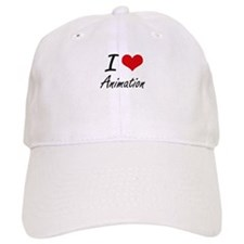 I Love Animation artistic Design Baseball Baseball Cap