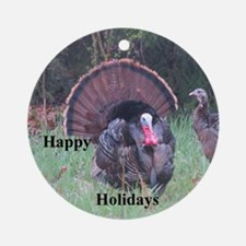 Wild Turkey Round Ornament