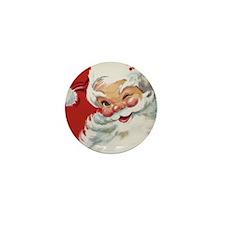 Vintage Christmas Jolly San Mini Button (100 pack)