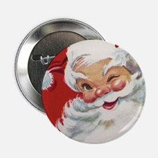 "Vintage Christmas Jolly San 2.25"" Button (10 pack)"