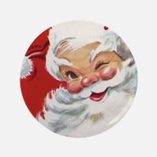"Vintage Christmas Jolly San 3.5"" Button (100 pack)"