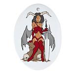 Devil Girl tattoo Oval Ornament