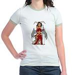 Devil Girl tattoo Jr. Ringer T-Shirt