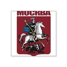 "Cute Russian coat arms Square Sticker 3"" x 3"""