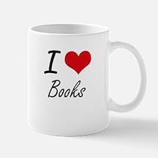 I Love Books artistic Design Mugs