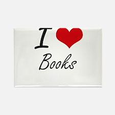 I Love Books artistic Design Magnets