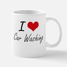 I Love Car Washing artistic Design Mugs