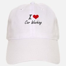 I Love Car Washing artistic Design Baseball Baseball Cap