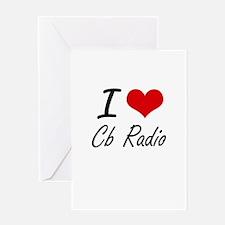 I Love Cb Radio artistic Design Greeting Cards