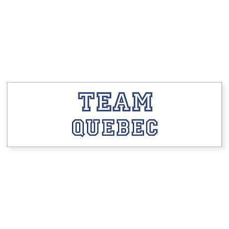 Team Quebec Bumper Sticker
