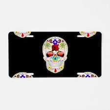 mexican sugar skull Aluminum License Plate