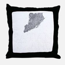 Satan Island Throw Pillow