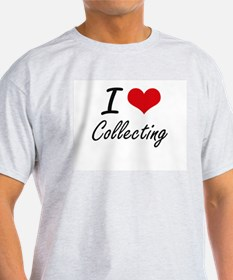 I Love Collecting artistic Design T-Shirt