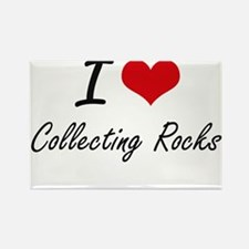 I Love Collecting Rocks artistic Design Magnets
