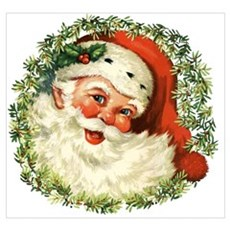 Vintage Santa Canvas Art