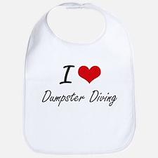 I Love Dumpster Diving artistic Design Bib