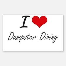 I Love Dumpster Diving artistic Design Decal