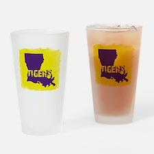 Louisiana Rustic Tigers Drinking Glass