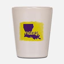 Louisiana Rustic Tigers Shot Glass