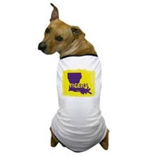 Louisiana Rustic Tigers Dog T-Shirt