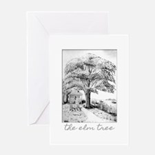 The Elm Tree Pencil Sketch Greeting Cards