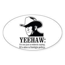 yeehaw Oval Decal