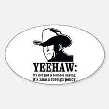 yeehaw Oval Decal