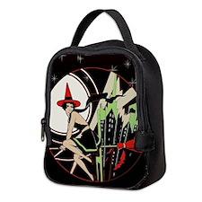 Halloween Witch Flying (vintage Neoprene Lunch Bag