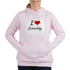 I Love Geocaching artist Women's Hooded Sweatshirt
