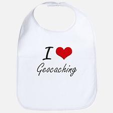 I Love Geocaching artistic Design Bib