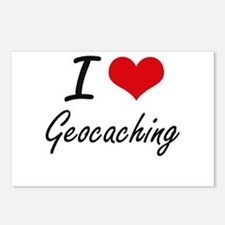 I Love Geocaching artisti Postcards (Package of 8)