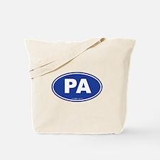 Pennsylvania PA Euro Oval Tote Bag