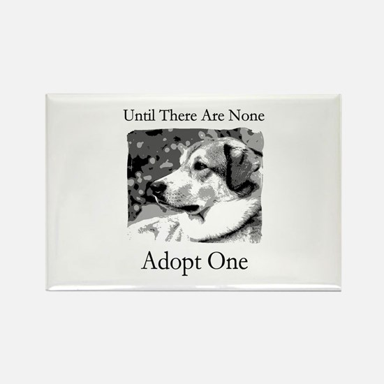 Until There Are None...Adopt Rectangle Magnet (10