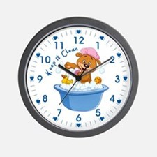 Keep It Clean - Wall Clock