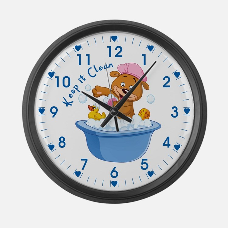Keep It Clean - Large Wall Clock
