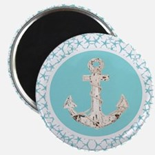 turquoise star fish anchor Magnets