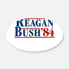 Cool Reagan for president Oval Car Magnet