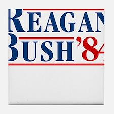 Cute Reagan bush Tile Coaster