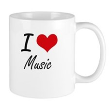 I Love Music artistic Design Mugs