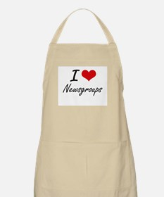 I Love Newsgroups artistic Design Apron