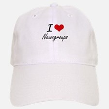 I Love Newsgroups artistic Design Baseball Baseball Cap