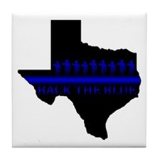 Funny Sheriff thin blue line Tile Coaster