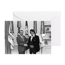 Elvis Meets Nixon Greeting Card