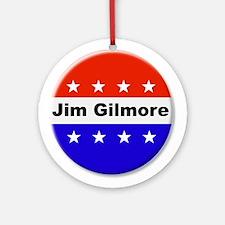 Vote Jim Gilmore Round Ornament