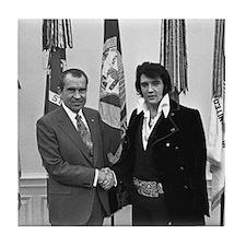 Elvis Meets Nixon Tile Coaster