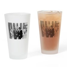 Elvis Meets Nixon Drinking Glass