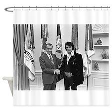 Elvis Meets Nixon Shower Curtain