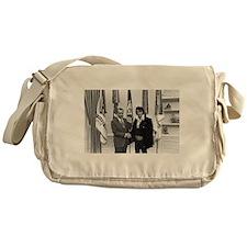 Elvis Meets Nixon Messenger Bag