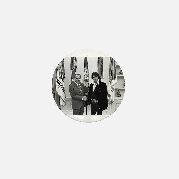 Elvis Meets Nixon Mini Button (10 pack)